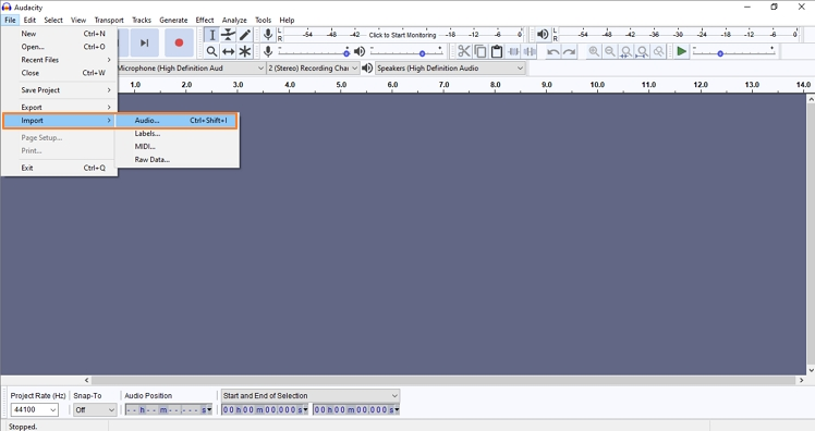 edit and combine mpe with audacity