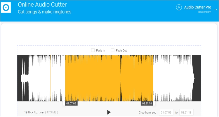 cut music with audio cutter pro