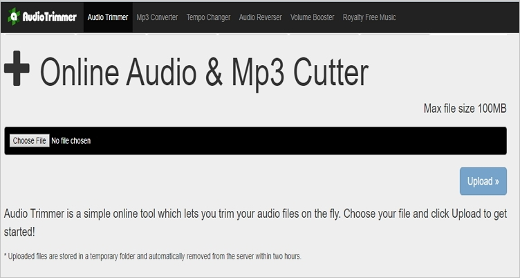 trim wav file with audiotrimmer
