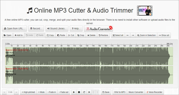 trim wav file with bearaudio