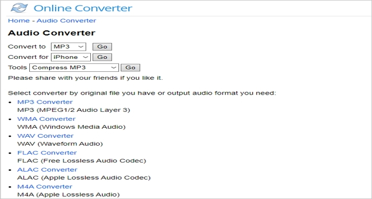 edit mp3 with online converter