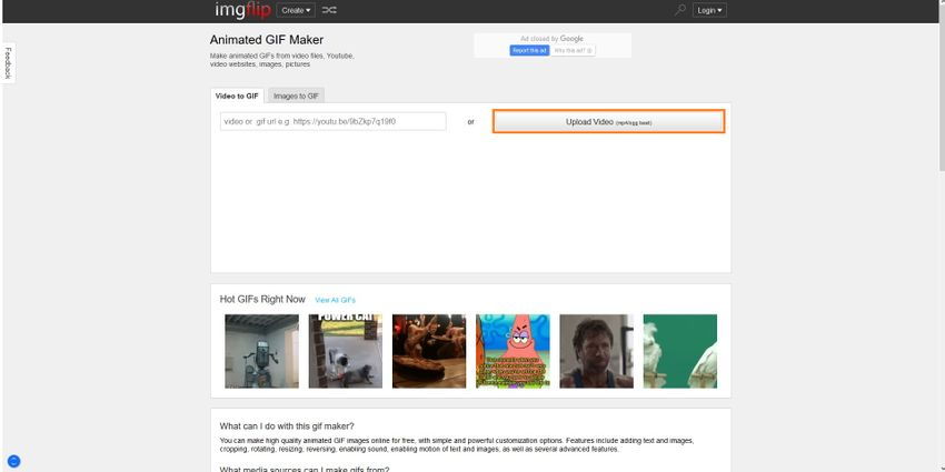 Upload a Video to Imgflip