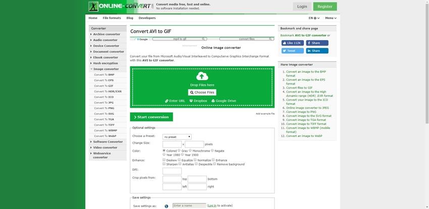 AVI to GIF Online-Online-Convert