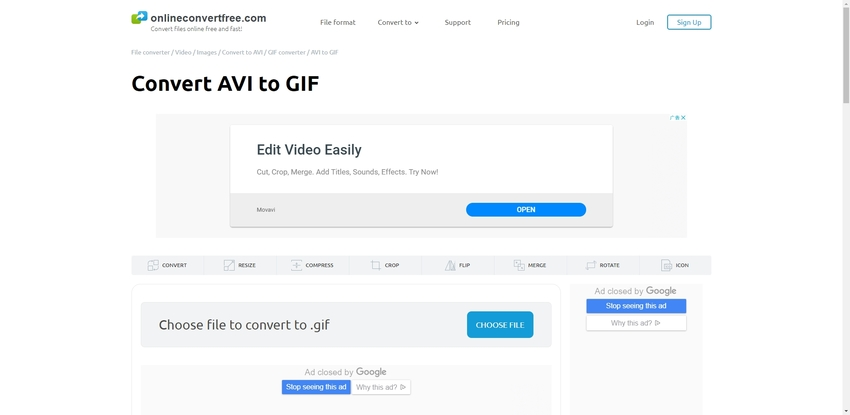 AVI to Animated GIF-Onlineconvertfree