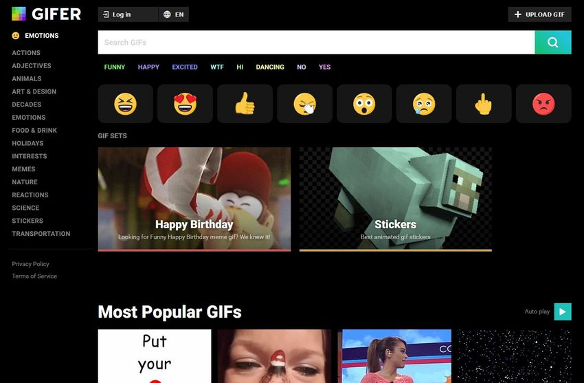 Download a GIF from GIFER