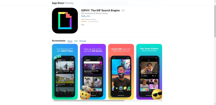 GIF Download Application-GIPHY