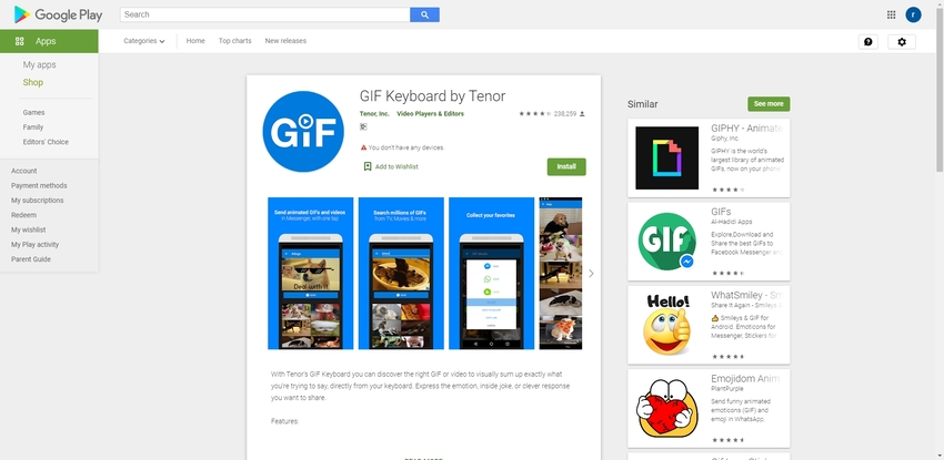 Best Free GIF App-GIF Keyboard by Tenor