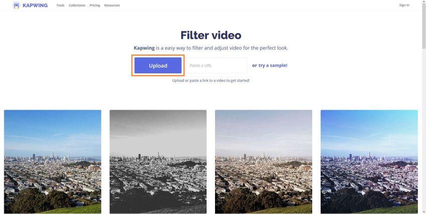 Upload a GIF to KAPWING