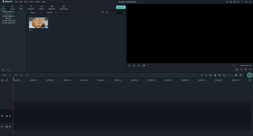 Move GIF File to Timeline in Filmora