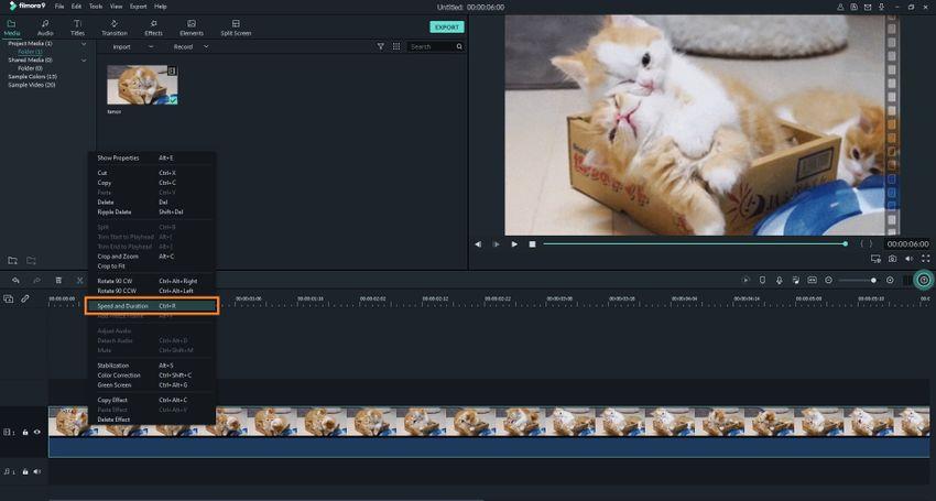 Adjust GIF Speed in Filmora