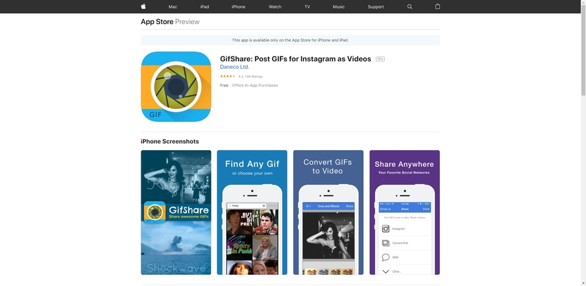 Turn GIF to Instagram Video-GifShare