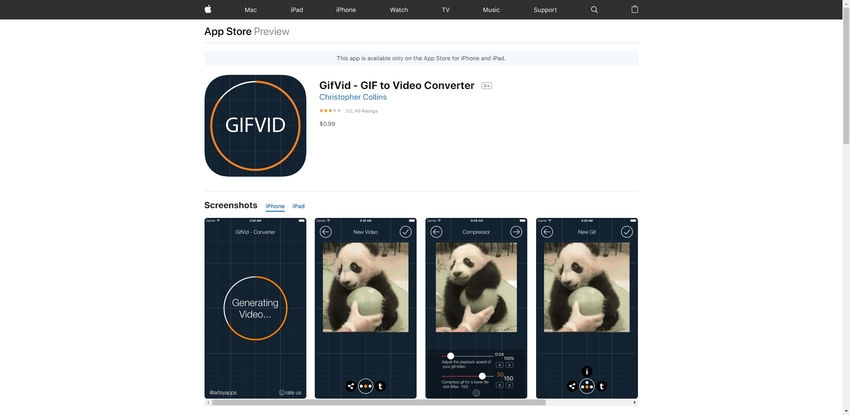 onvert Animated GIF to Instagram Video in GifVid