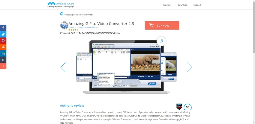 Convert GIF to MOV Mac-Amazing Converter