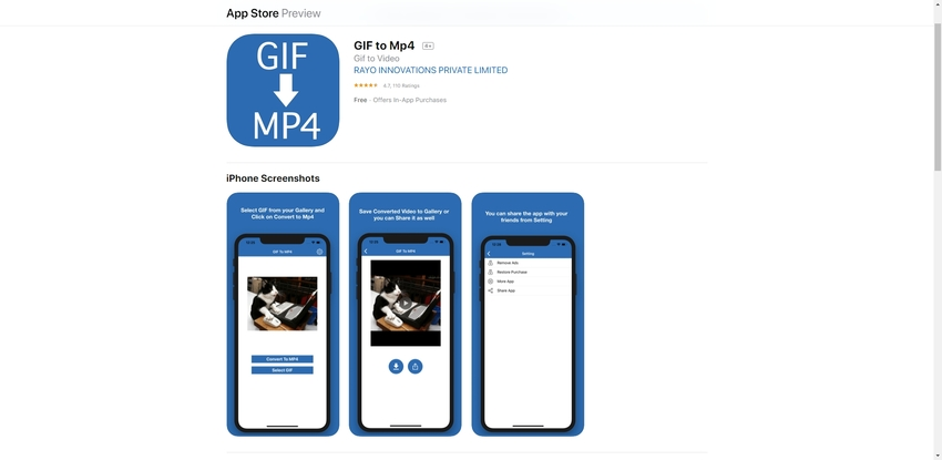 GIF to MP4 App