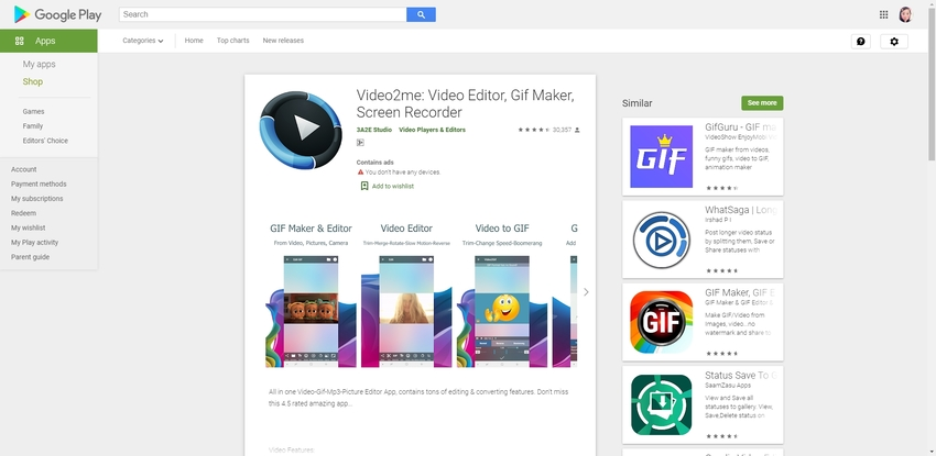 Convert GIF to MP4 Android-Video2ME