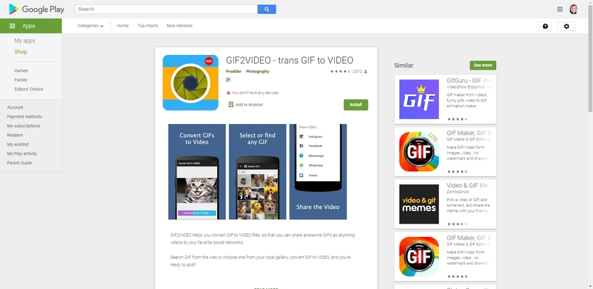 Convert Animated GIF to MP4-GIF2VIDEO