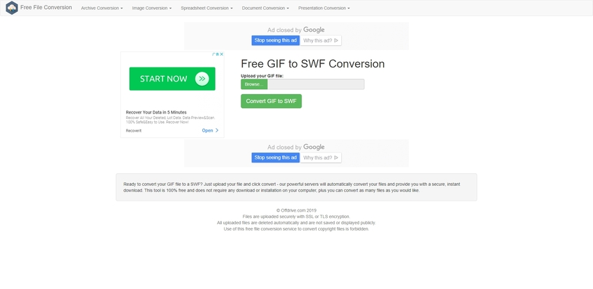 GIF to SWF-Free File Conversion