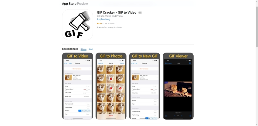 GIF to Video iPhone-GIF Cracker