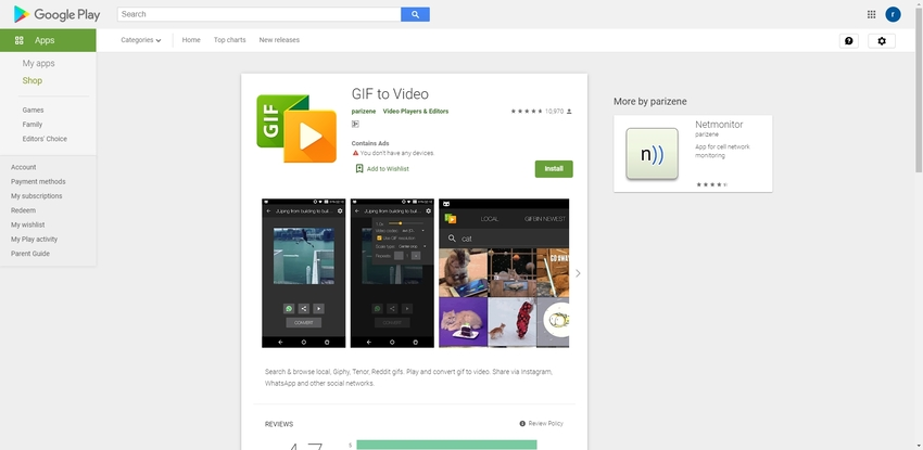 GIF to Video Android