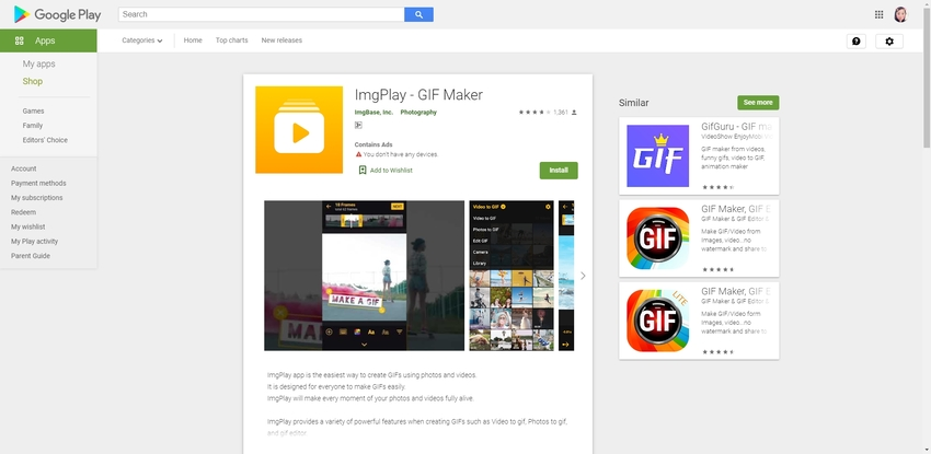 Create GIF App Android-ImgPlay
