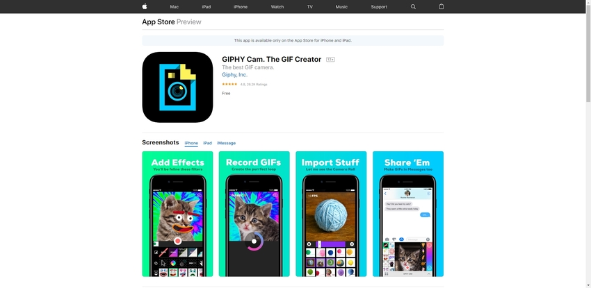 How to Make GIF iPhone-GIPHY Cam