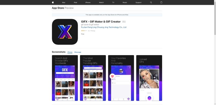 Create a GIF iPhone-GIFX