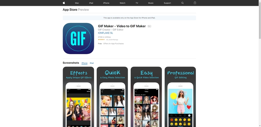 Make GIF iPhone