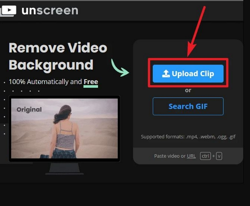 Input a GIF to Unscreen