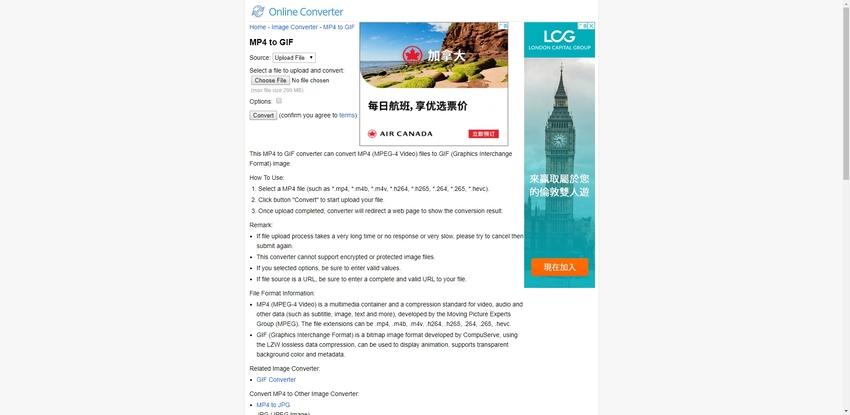 Change MP4 to GIF Online-Online Converter