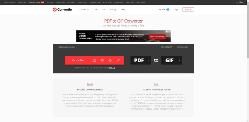 PDF to GIF Online Converter Free-Convertio