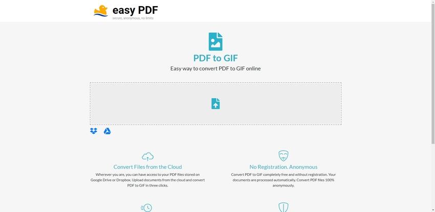 Turn PDF to GIF Online-EasyPDF