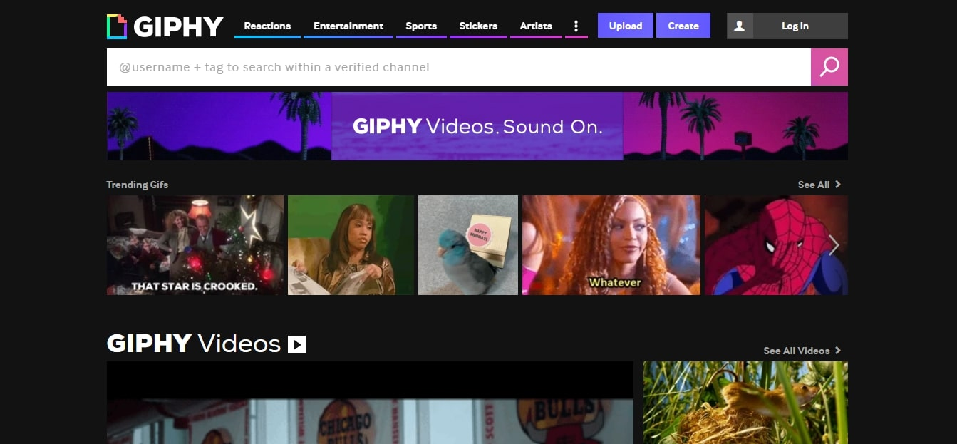 Visit Giphy Website