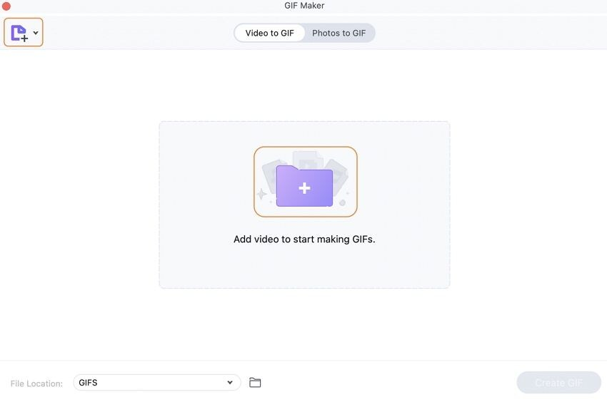 Select the GIF Maker Feature