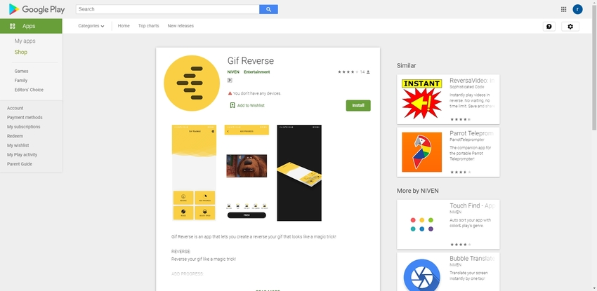Free Reverse GIF App-GiF Reverse