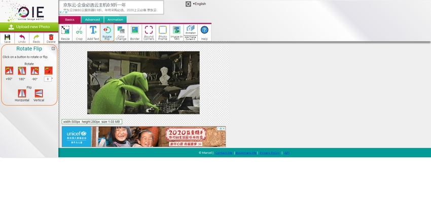 Mirror GIF Online-Online Image Editor