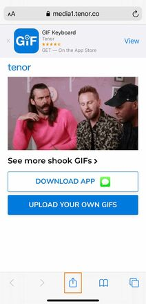 Share GIF on Another Social Platform and Save It