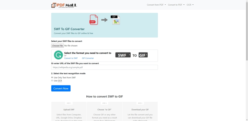 Change SWF to GIF-PDF Mall