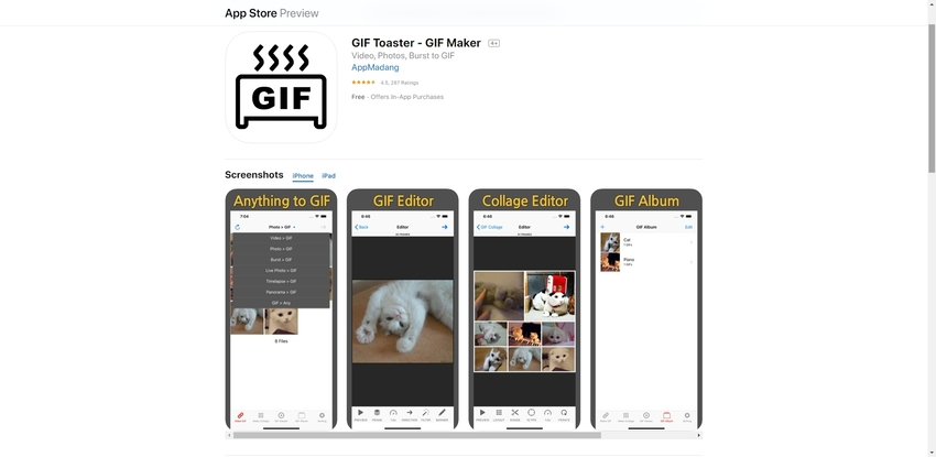 App to Make GIF-GIF Toaster