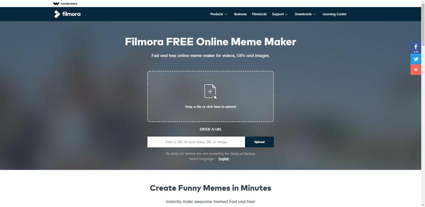 GIF Maker Online-Filmora Free Online Meme Maker