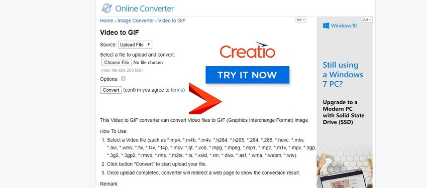 Twitter to GIF-Online Converter