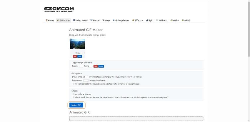 WebM to GIF Conversion Online-EZGIF