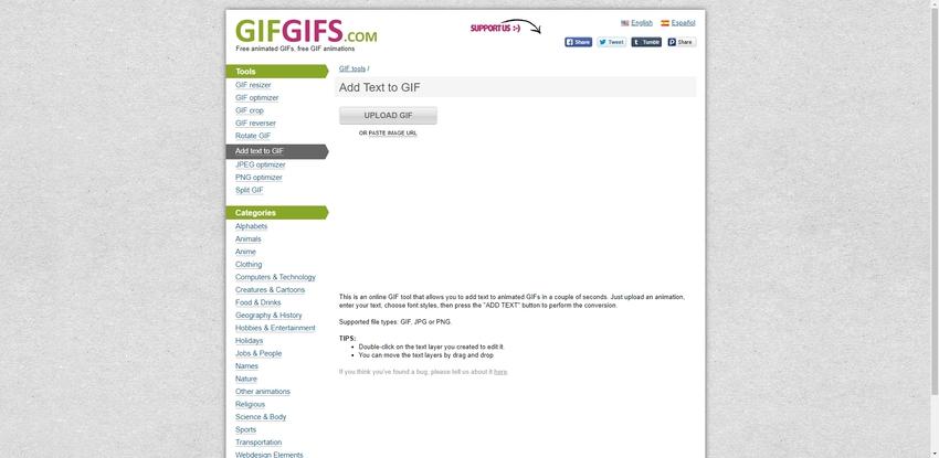 GIF text editor-GIFGIFS