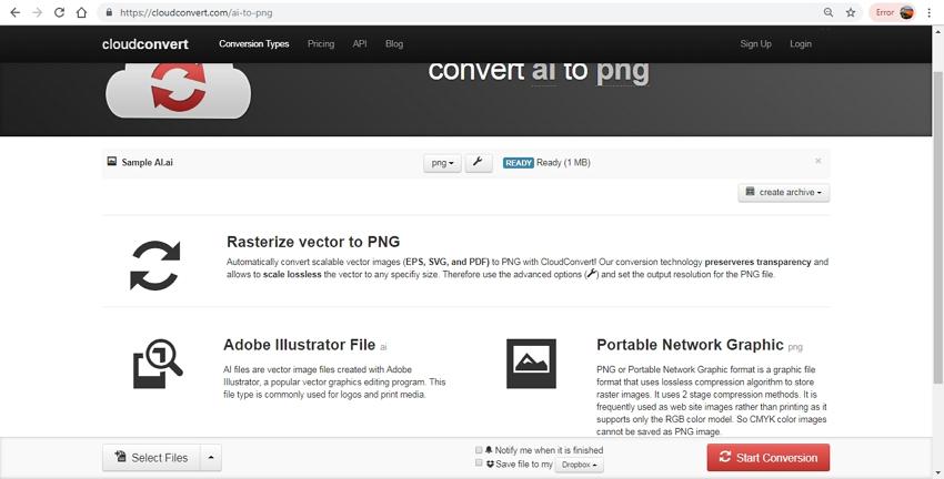 convert AI to PNG-Cloud Convert
