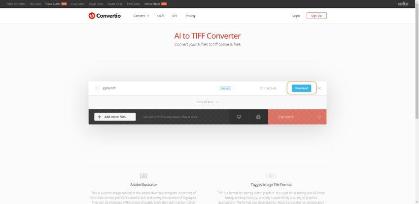 convert to TIFF file-Converito