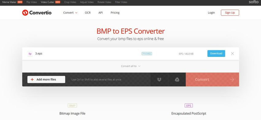 download EPS format-Convertio