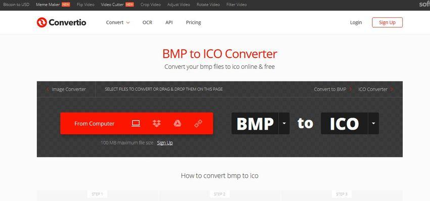 BMP file to ICO file-Convertio