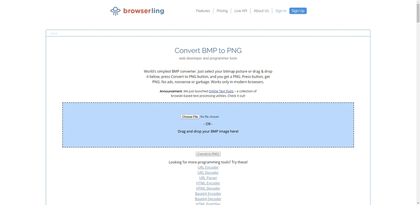 BMP to PNG Conversion-Browserling