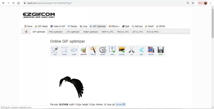 Compress GIF File-EZGIF