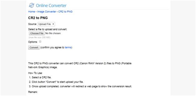convert CR2 to PNG-Online Converter