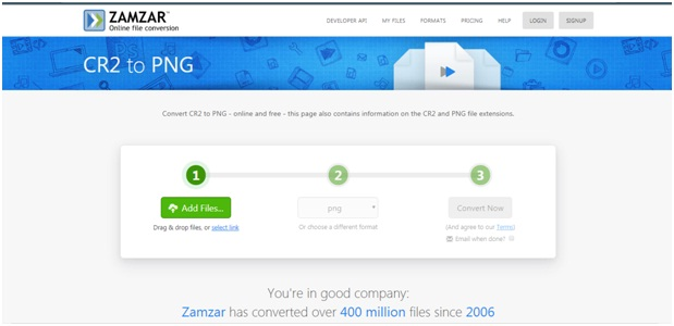 change CR2 to PNG image-Zamzar